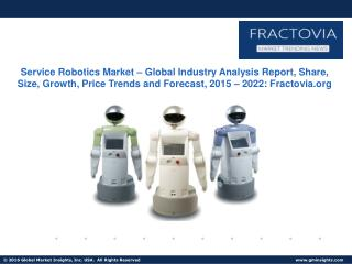 Service Robotics Market in Household Sector to cross USD 4 billion by 2022