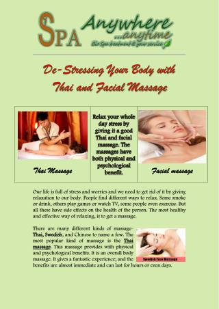 De-Stressing Your Body with Thai and Facial Massage