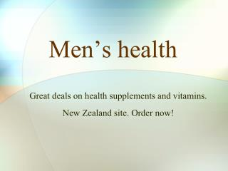 tasmanhealth.co.nz | NOW Foods Men's Virility Power