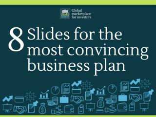 8 slides for the most convincing buisness plan by Crowdinvest