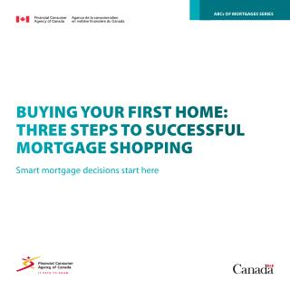 BUYING YOUR FIRST HOME:THREE STEPS TO SUCCESSFULMORTGAGE SHOPPING