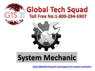 Best Support for system mechanic Dial:1-800-294-5907