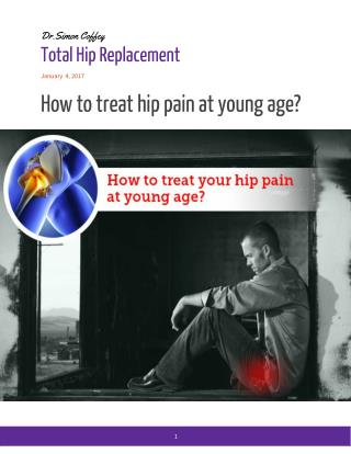 How to treat hip pain at young age?