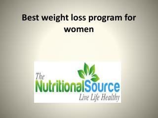 Best weight loss program for women