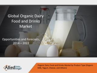 Organic Dairy Food and Drinks Market to Grow $36,729 Million, Globally by 2022
