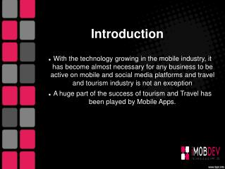 How Mobile App  helps for Travel and Tourism Industry?