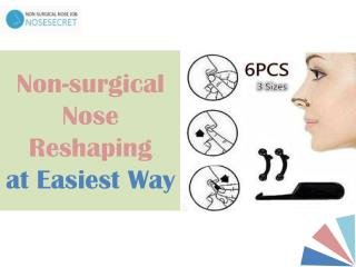 Non-surgical Nose Reshaping at Easiest Way