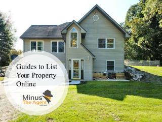 Guides to List Your Property Online