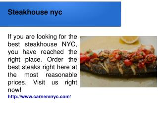 Steakhouse nyc