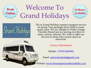 20 seater Tempo Traveller Rental in Delhi, Tempo Travelle hire in Delhi
