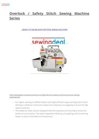 Overlock / Safety Stitch Sewing Machine Series