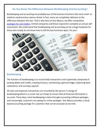 Do You Know The Difference Between Bookkeeping And Accounting?