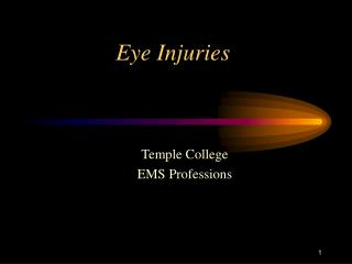 Eye Injuries