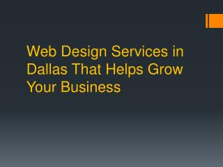 Dallas Webdesign at Low Cost