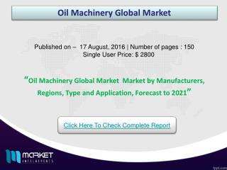 Oil Machinery Global Market : Asia-Pacific Region to Witness High Business Growth in Coming Future!