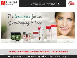 Natural Anti Wrinkle Cream in Australia - LifeCell Australia