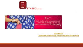 Buy Indian ethnic sarees  online -Ethinickart