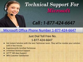 Microsoft Phone Number 1-877-424-6647 |  Support Contact