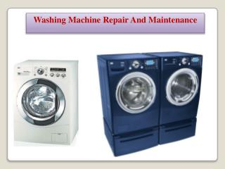 Washing Machine Repair Is Just A Call Away