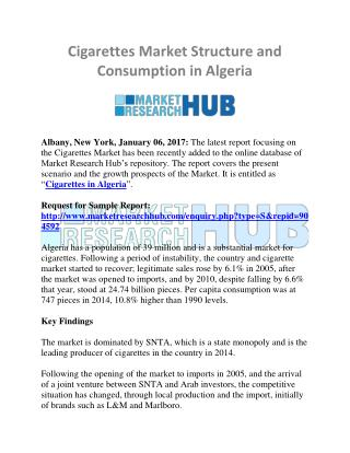 Cigarettes Market Structure and Consumption in Algeria