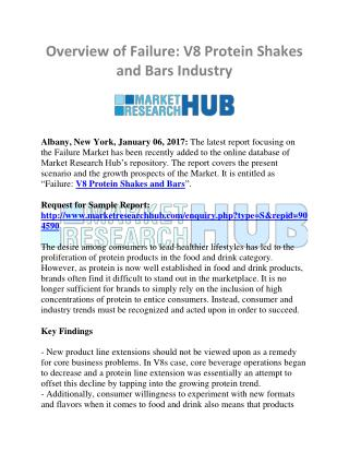 Overview of Failure: V8 Protein Shakes and Bars Industry
