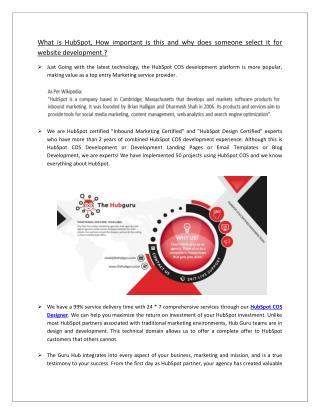 Hubspot COS Design & Development