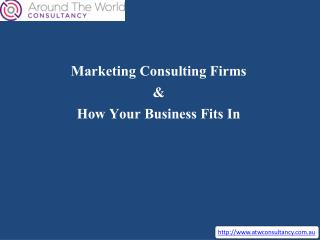 Marketing Consulting Firms & How Your Business Fits In