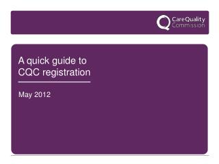 A quick guide to CQC registration