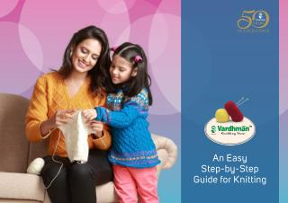 Learn How to Knit - Guide for Knitting by Vardhman