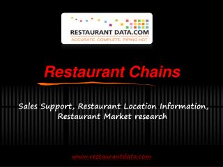 Restaurant Chains - Restaurant Data