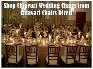 Shop Chiavari Wedding Chairs from Chiavari Chairs Direct