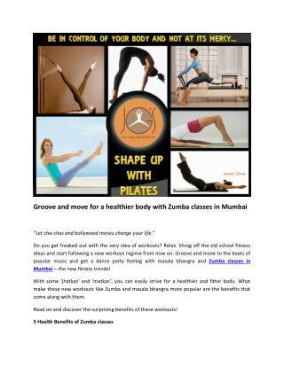 Groove and move for a healthier body with Zumba classes in Mumbai
