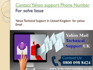 How to contact yahoo support phone number