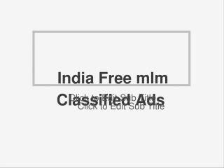free mlm classified sites in india