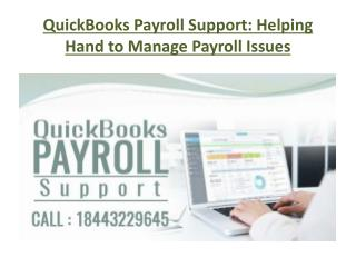 QuickBooks Payroll Support: Helping Hand to Manage Payroll Issues