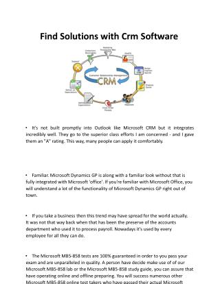 Find Solutions With Crm Software