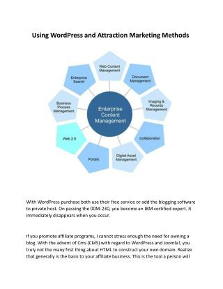 Using WordPress And Attraction Marketing Methods