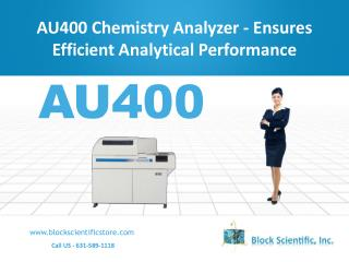 AU400 Chemistry Analyzer - Ensures Efficient Analytical Performance