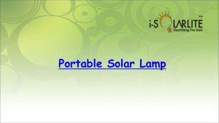 Portable Solar Lamp by i-solarlite