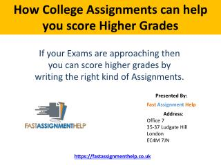 How college assignments can help you score Higher Grades