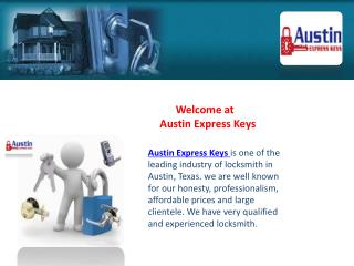 Austin Express Keys-Mobile Locksmith Austin