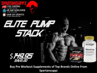 Buy Pre Workout Supplements of Top Brands Online From Spartansuppz