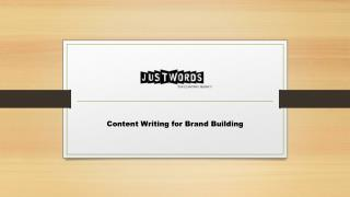 Content Writing for Brand Building