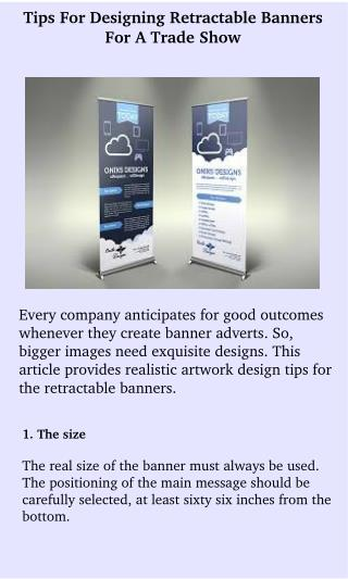 Best Designing Retractable Banners