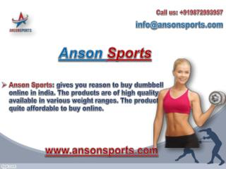 Anson Sports- One of the Best Gym Equipments Manufacturers in Delhi