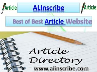 Best Article Website ALInscribe | Submit Articles