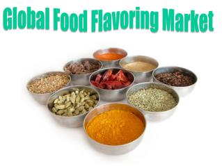 Global Food Flavoring Market