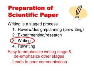 Preparation of  Scientific Paper