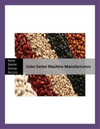 Color Sorter Machine Manufacturers