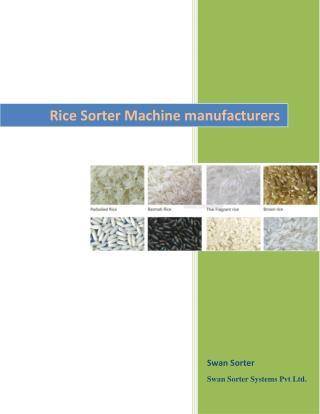 Rice Sorter Machine manufacturers